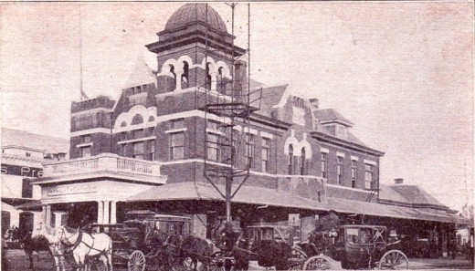 Houston & Texas Central Railroad Depot in Austin (source: Elgin Depot Museum)